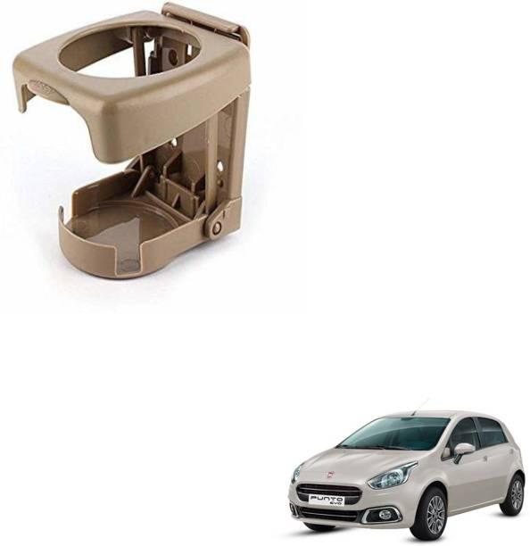 SEMAPHORE High Quality Foldable BEIGE Drink Holder For FIAT PUNTO EVO Car Bottle Holder