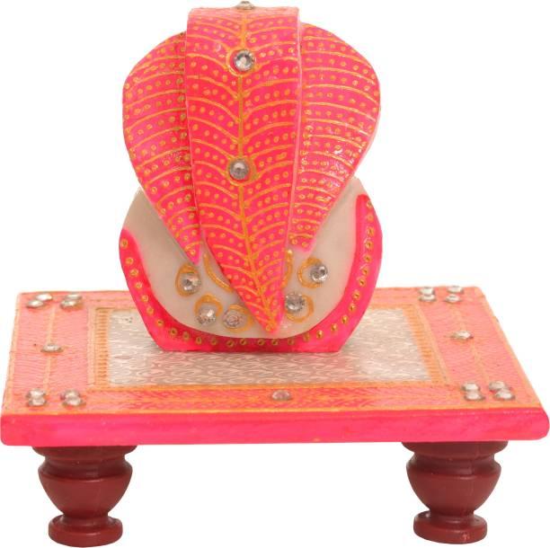 Shiva Arts Beautiful Chowki Ganesh Marble Pooja Chowki Marble Pooja Chowki