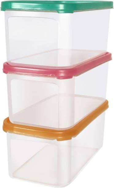 Muchmore Multipurpose Plastic Storage Box Combo Transparent Containers  - 1600 ml Plastic Bread Container