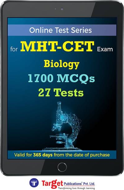 Target Publications MHT CET Biology Online Test Series | Practice 1700 MCQs | Chapterwise, Topicwise Questions and Model (Mock) Tests with Solutions | Maharashtra Pharmacy Entrance
