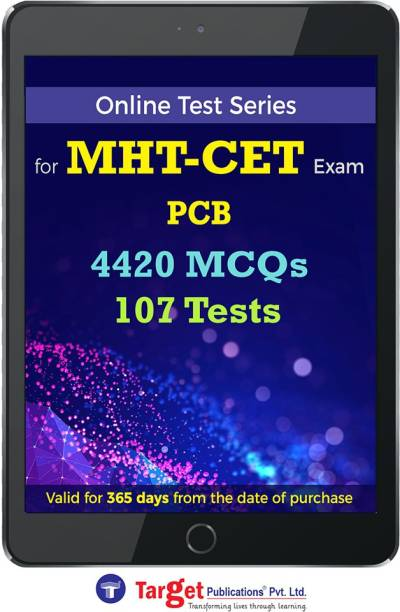 Target Publications MHT CET PCB Online Test Series | Practice 4420 MCQs | Chapterwise, Topicwise Questions and Model (Mock) Tests with Solutions | Physics, Chemistry, Biology