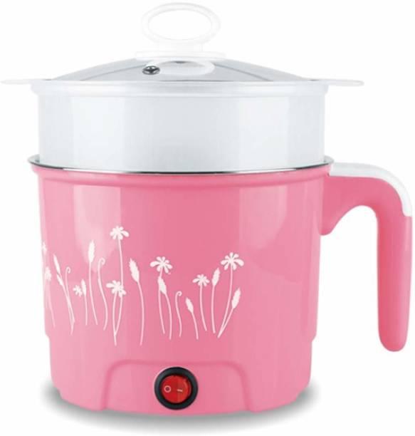 SIYA INFOTECH 1.5 Liter Mini Electric Multi Function Cooking Cooker Pot Rice Cooker, Egg Roll Maker, Travel Cooker, Slow Cooker, Deep Fryer, Egg Cooker, Egg Boiler