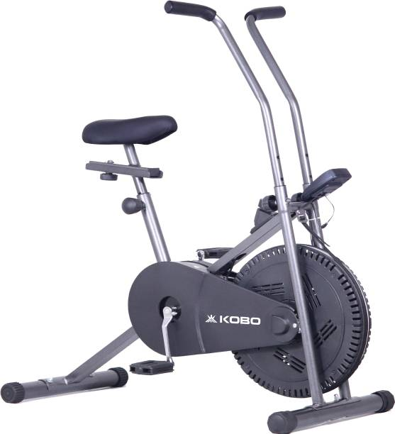KOBO Indoor Exercise Air Bike Cycle for Home Cardio Weight Loss Gym Workout Dual-Action Stationary Exercise Bike