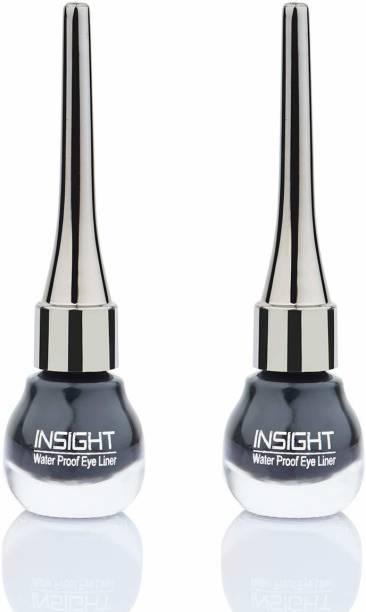 Insight 24Hrs Waterproof & Smudge proof Liquid Eyeliner (Pack Of 2) 10 ml