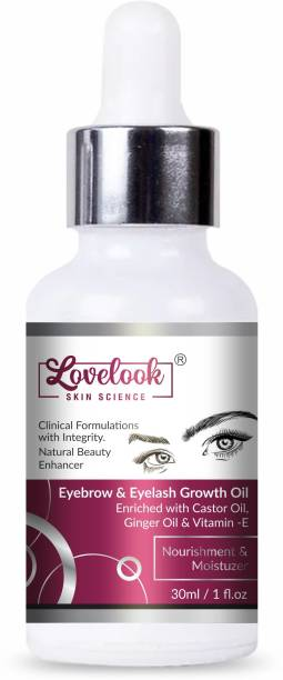 Lovelook Eyebrow & Eyelash Growth Oil For Women - Strength with Pure Natural Ingredient 30 ml