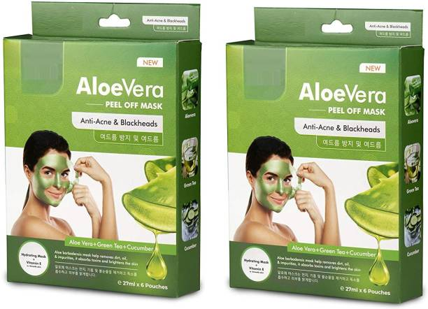 manasona Aloe Vera Peel off Mask Enriched with Fruits Extract and Vitamin-E Firmly Removes Dirt
