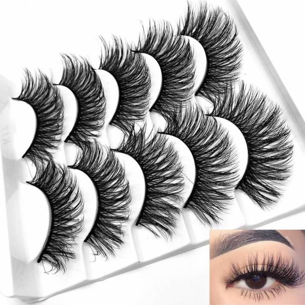 Rise & Star Fluffy False Eyelashes Natural Faux Mink Strip 3D Lashes Pack