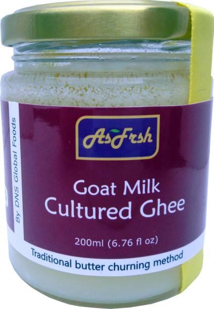 AsFrsh Goat Milk Cultured Ghee I 200 ml I No additives I No Preservatives Ghee 200 ml Mason Jar