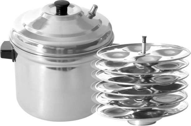 Flipkart SmartBuy 6-Plates Stainless Steel Idly Maker/Cooker (6-Plates, 24 Idlis) Induction & Standard Bottom Idly Maker Induction & Standard Idli Maker