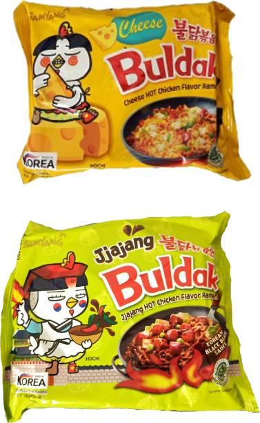 Samyang Hot Chicken Ramen Buldak Cheese & Jjajang Noodles Hakka Noodles Non-vegetarian