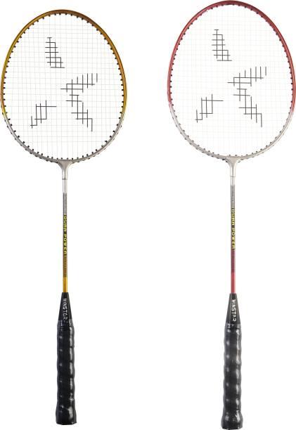 Winstar BADMINTON RACQUET QURA POWER Racquet with Full Coverage(Pack Of 2)Sports Racquet Grey Strung Badminton Racquet