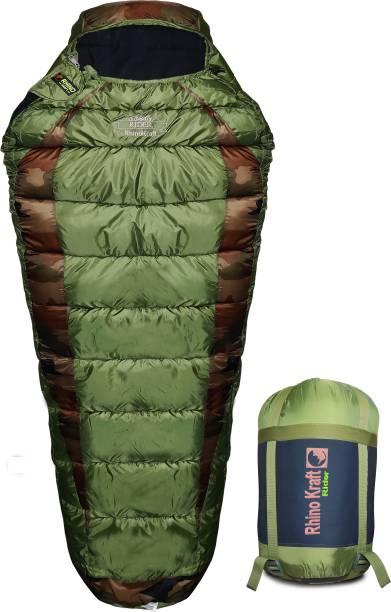 RHINOKraft Rider Green Mummy Shape Extra Large Size for Camping in Winter Sleeping Bag