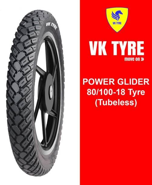 VK TYRE POWER GLIDER TUBELESS 80/100-18 Rear Tyre