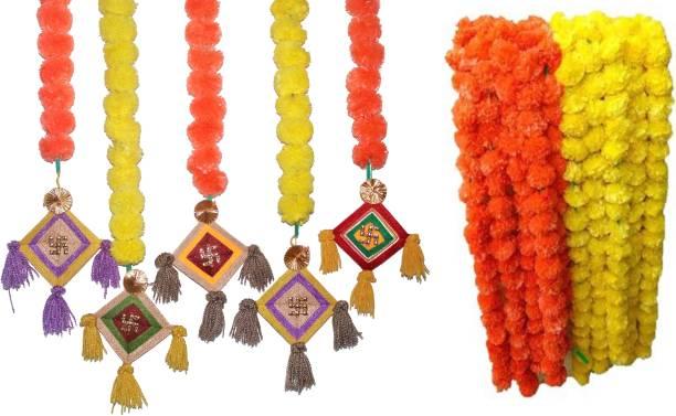 DilSe Multicolor Marigold Artificial Flower