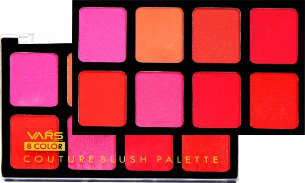 VARS LONDON 8 color matte and shimmer combo blusher palette