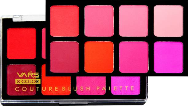 VARS LONDON 8 color blusher palette | face makeup blusher palette | Matte and shimmer blusher