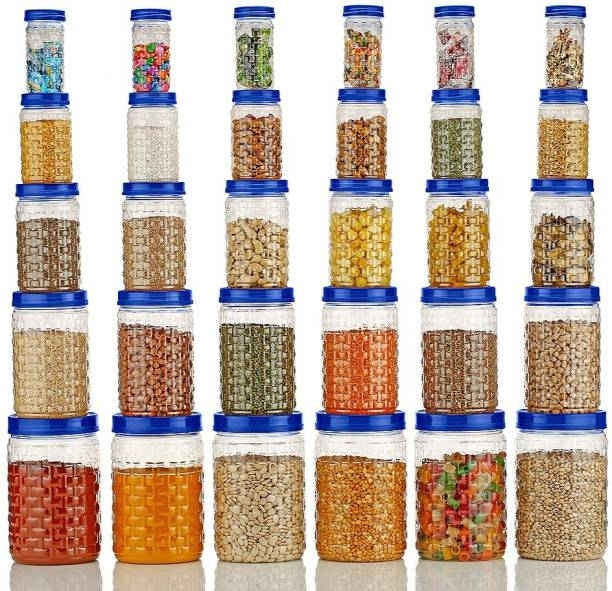 Nexium 30Pcs BEST BUY Kitchen Set Plastic Container Storage Containers Box Air Tight Combo Set  - 250 ml, 300 ml, 650 ml, 1200 ml, 2000 ml Plastic Grocery Container
