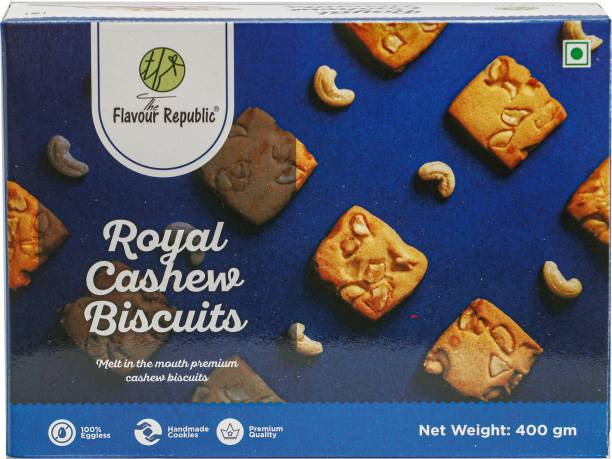 The Flavour Republic Royal Cashew Biscuits Pure Vegetarian Premium Quality Biscuits_Pack of 2 Cookies