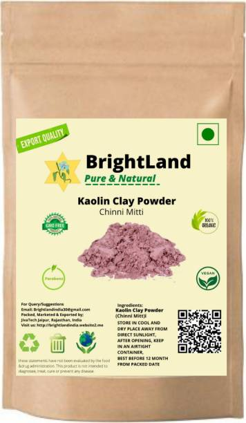 Brightland 100% Pure and Natural Kaolin Clay Powder (Chinni Mitti) for Hair Pack