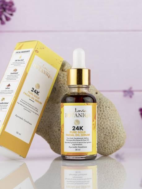 Clovia Botaniqa 24K Pure Gold Facial Oil Serum with Saffron & Goat Milk