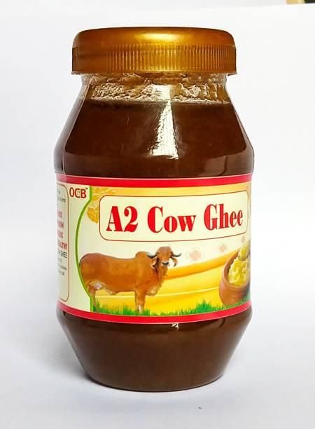 OCB Indian A2 Cow Ghee 100% Pure (Hand & Home Made Desi Cow Milk Ghee) Ghee 250 g Plastic Bottle