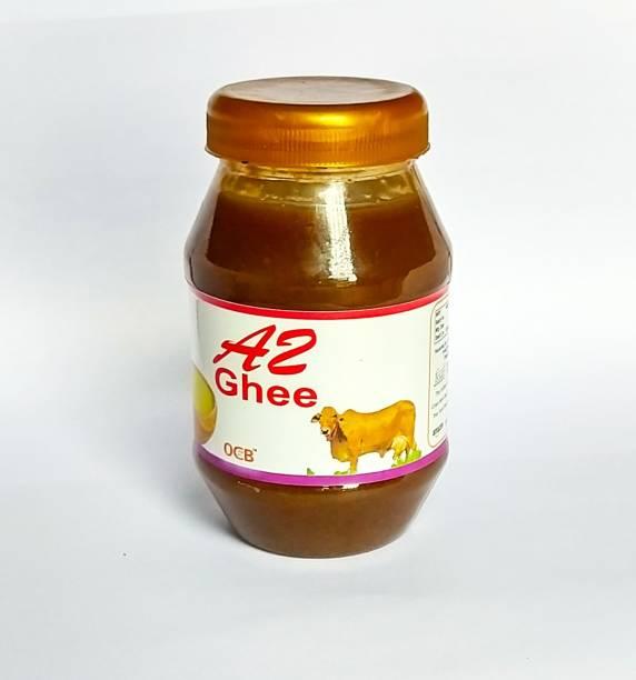 OCB Organic Farms A2 Cultured Ghee, Desi Gir Cow Ghee (Hand & Home Made Desi Cow Milk Ghee) Ghee 250 g Plastic Bottle
