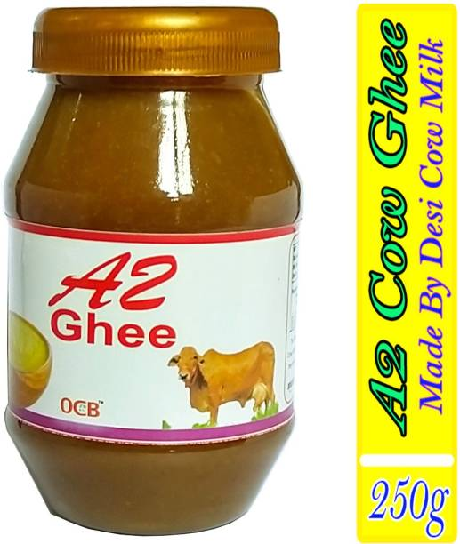OCB A2 Desi Cow Ghee 100% Pure and natural made from bilona method (Hand & Home Made Desi Cow Milk Ghee) Ghee 250 g Plastic Bottle