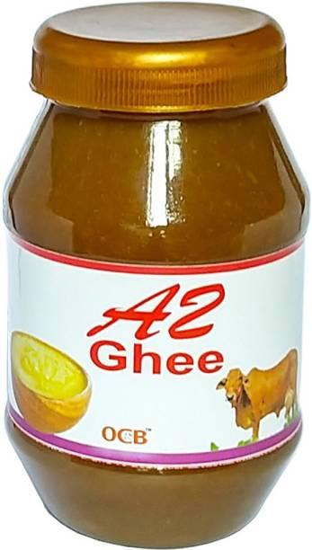 OCB Organic Farms A2 Cultured Ghee, Desi Gir Cow Ghee (Village Made Desi Cow Milk Ghee) Ghee 250 g Plastic Bottle