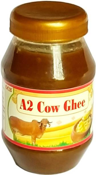 OCB A2 Desi Ghee (Helps Reduces Joint Pain and Improves Heart Functioning)(Hand Made Desi Cow Milk Ghee) Ghee 250 g Plastic Bottle