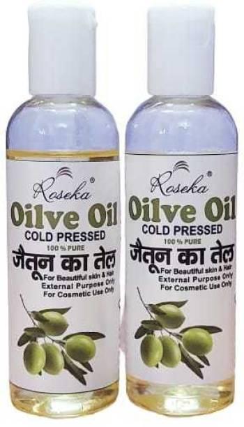 ROSEKA OLIVE OIL 200ML PACK OF 2 Hair Oil