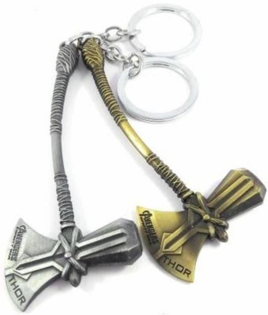 eweft Thor Marvel Superhero Storm breaker Avenger Axe - Small Pocket Size {Pack of 2} Key Chain