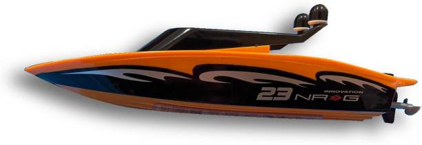 Radha Kripa Wireless high speed Remote Control RC Racing Boat with Flip in Water Function