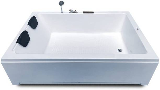 Madonna Industries Phoenix M4 Acrylic Bath Tub with Front Panel and Filler System - White Free-standing Bathtub
