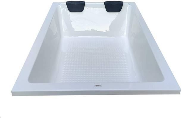 Madonna Industries Phoenix M3 Portable Freestanding Acrylic Bathtub for Adults with Side Panel - White Free-standing Bathtub
