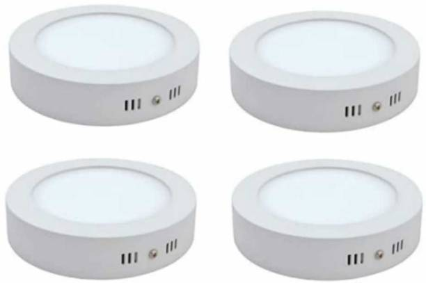 MVL MVL LED 9W CBL Round Surface Down Light White Pack of 4 Recessed Ceiling Lamp