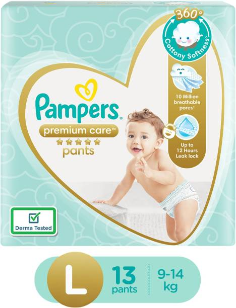 Pampers Premium Pants Cotton like soft Diapers with Wetness Indicator Premium Care - L