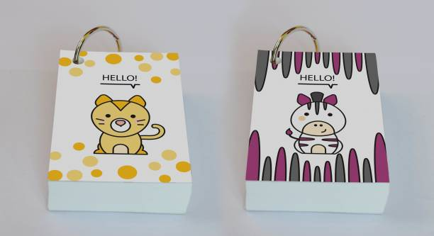 Baron My Cute Friends - Set 3 Mini Note Pad Unruled 200 Pages
