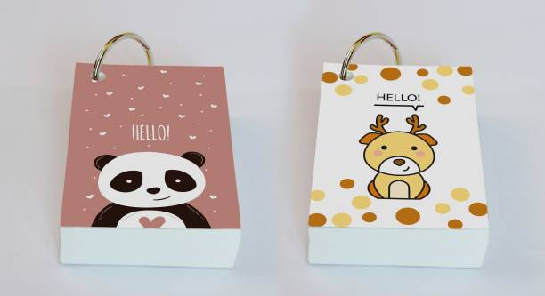 Baron My Cute Friends - Set 2 Mini Note Pad Unruled 200 Pages