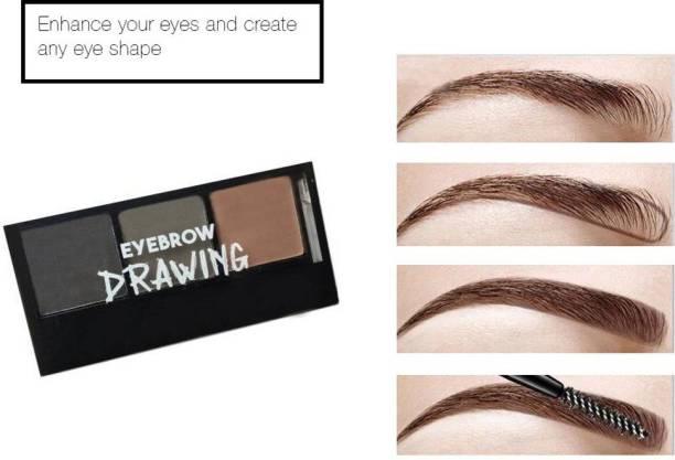 Diaz Eyebrow enhancer eyebrow palette (brown, dark grey, light brown) 6.8 g