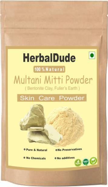 HERBALDUDE Organic Multani Mitti Powder for Skin and Face (100 g)