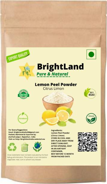 Brightland Organic Face Cleanser Lemon Fruit Peel Powder