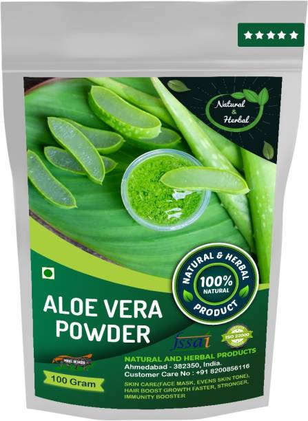 NATURAL AND HERBAL PRODUCTS Aloevera Powder | Aloe Arborescens Leaf | Aloe Leaf Gel For Skin Care(Face Mask, Skin Brightening, Evens Skin Tone) and Hair Boost Growth Faster, Stronger and Immunity Booster-