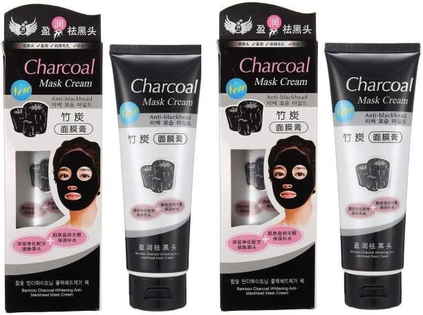 KA-KAIASHA Charcoal Purifying Cleansing Black Peel Off Mask Anti-Blackhead Suction Mask Cream - 130g