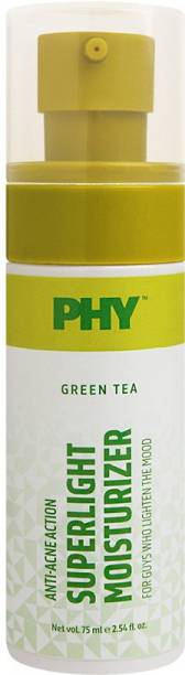 Phy Green Tea Superlight Moisturizer   Anti-Acne Action   Light-Liquid Texture   Non-Greasy, Non-Sticky   Specially for Oily Skin Types