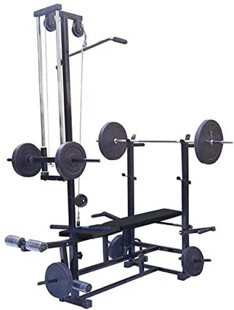 GoFiTPrO 20 in 1 bench Double Support Black Multipurpose Fitness Bench