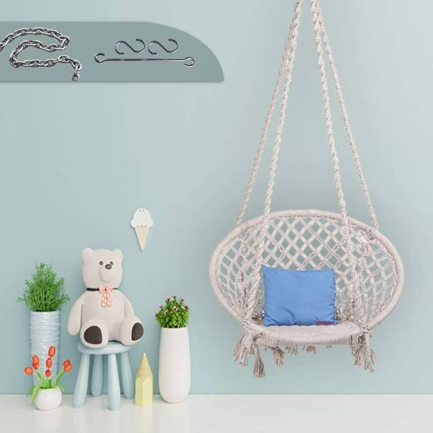 Flipkart Perfect Homes Studio Round Swing with accessories & Chain Cotton Large Swing