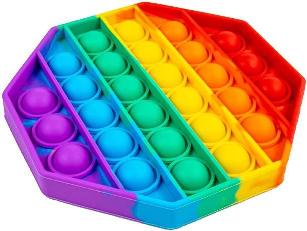 JIALTO Pop It Fidget Toys, Pop It Fidget Toy Set | Pop Its Fidget Toys, Fidget Toys Pop It Rainbow, Pop It Toy, | Poppit Fidget Toy, Rainbow Pop It, Push Pop Bubble Fidget Toy