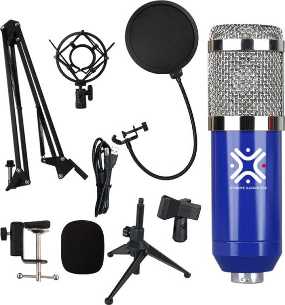 Xtreme Acoustics XACKUBL01 USB Condenser Microphone kit CK01 USB MiC kit for podcasting, Gaming, vlogging and Live Streaming (Blue) Microphone