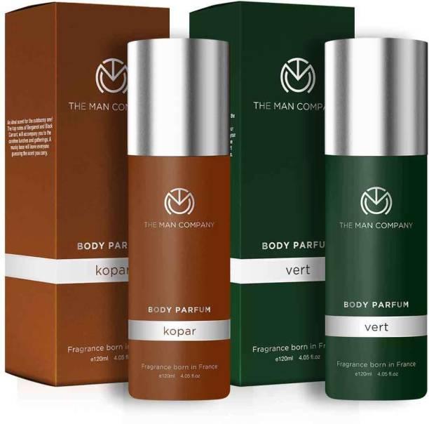 THE MAN COMPANY Non-Gas Body Perfume Combo Set for Men | Kopar and Vert Perfume  -  240 ml