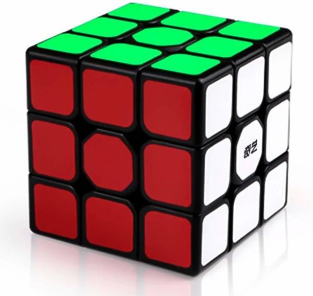 HASTiKA QiYi Sail W 3x3 Black Puzzle Toy High Speed Magic Cubes Puzzles